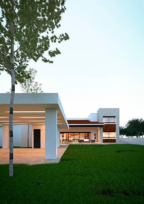 Fachada : Casas de estilo  por Laboratorio Mexicano de Arquitectura