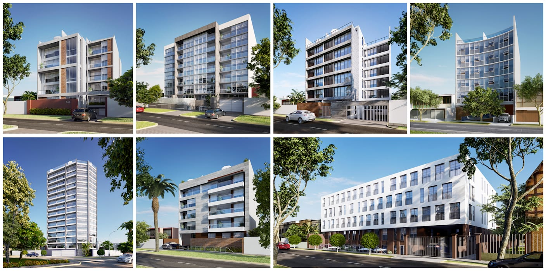 PERSPECTIVAS EXTERIORES: Casas de estilo moderno por FABRE STUDIO