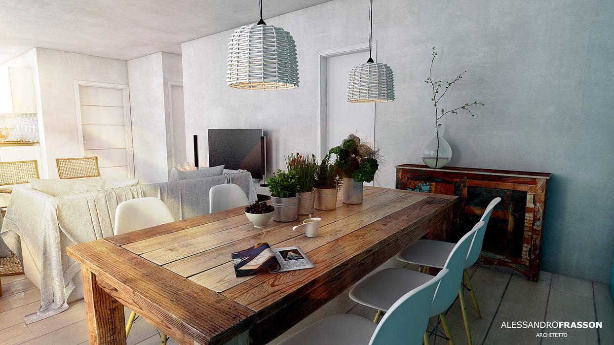 Ruang Makan Gaya Mediteran Oleh Studio Frasson Mediteran