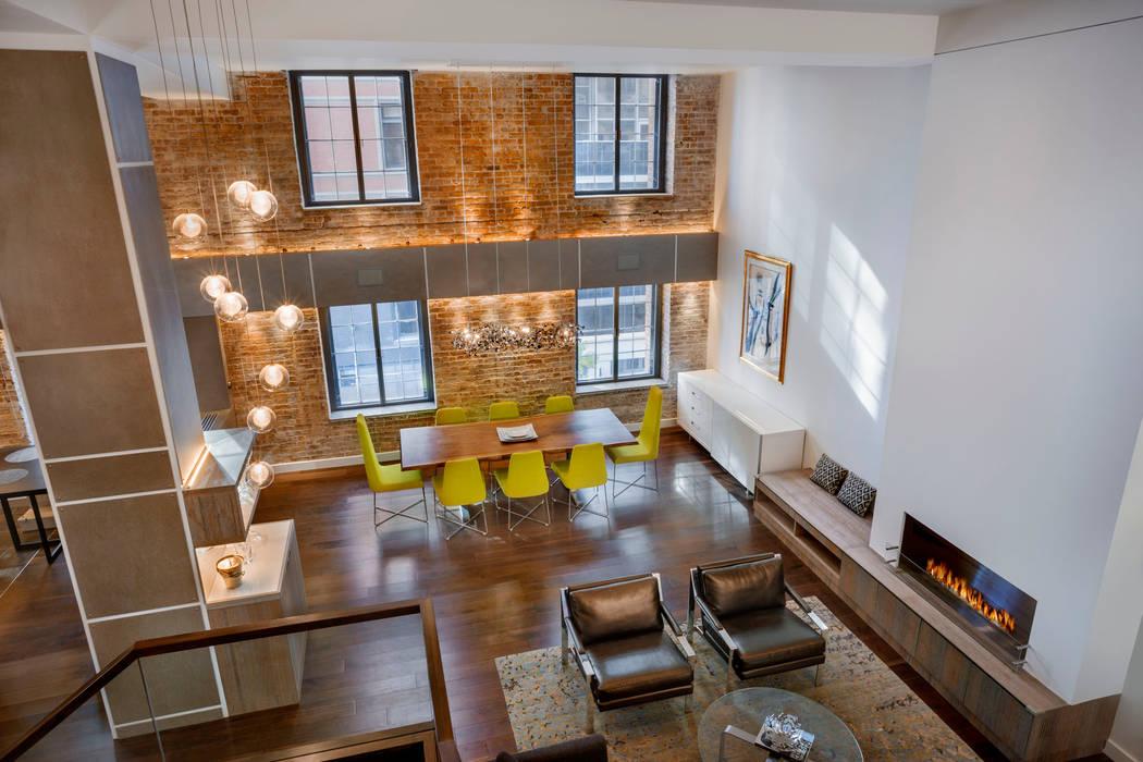 Salones de estilo  de Rodriguez Studio Architecture PC, Moderno