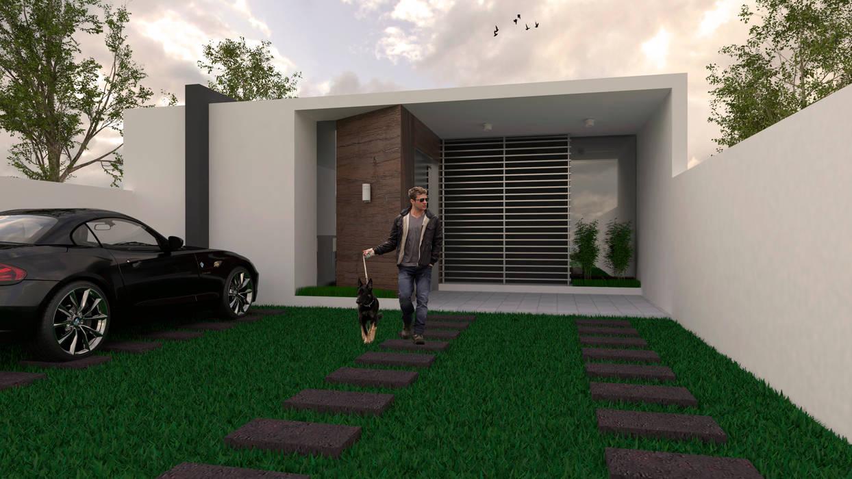 CASA NIDIA: Casas de estilo minimalista por Despacho Integral de Arquitectura y Construccion