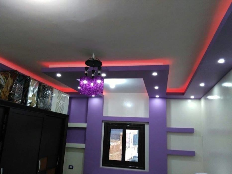 تشطيب شقة بالتجمع الخامس بالقاهرة الجديدة  مع شركة كاسل:  غرفة الميديا تنفيذ كاسل للإستشارات الهندسية وأعمال الديكور في القاهرة,