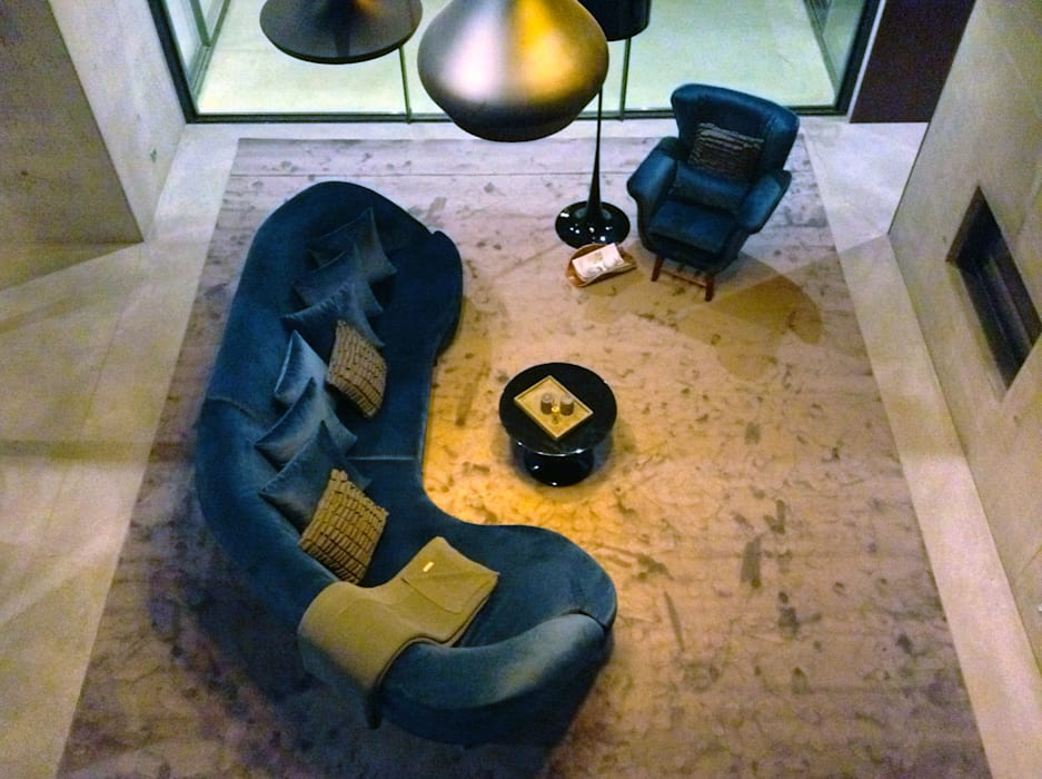 casa SS interiors: Salas de estar  por Artspazios, arquitectos e designers