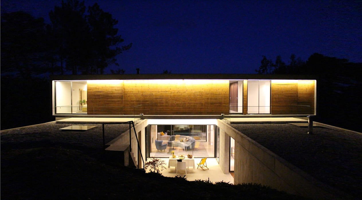 casa SS Casas minimalistas por homify Minimalista Madeira Acabamento em madeira