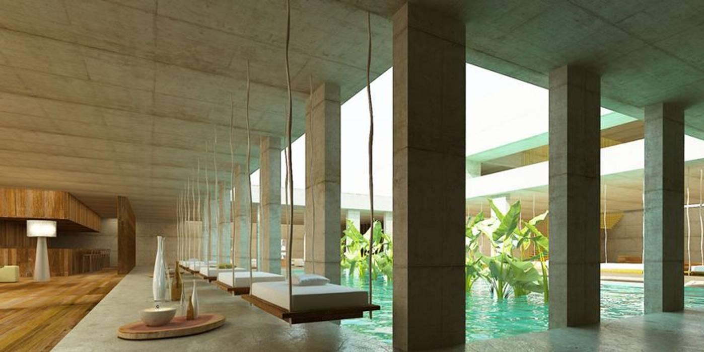Xai Xai Golf & Beach Holistic SPA: Hotéis  por Artspazios, arquitectos e designers