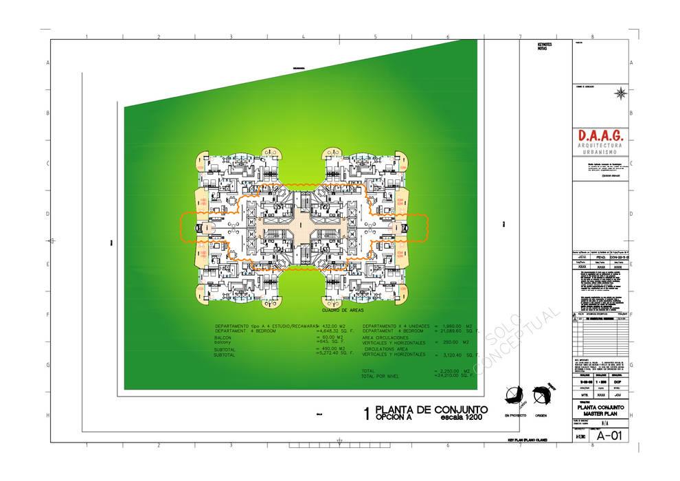 TORRE VISION ALTITTUDE Dormitorios modernos de Diseño Aplicado Avanzado de Guadalajara Moderno