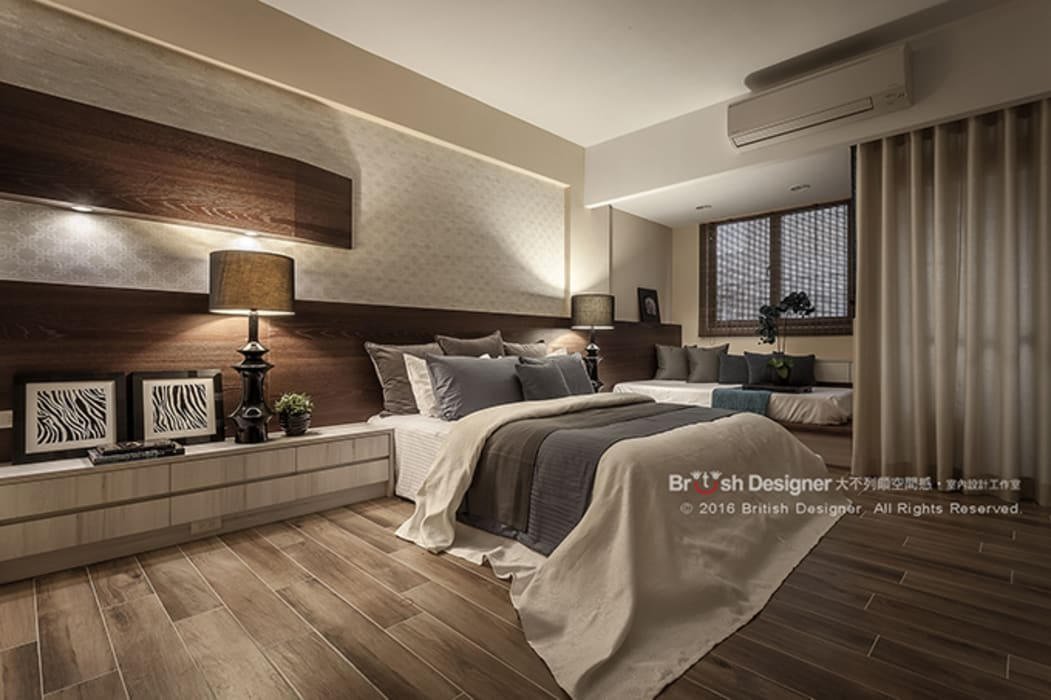 新東方-臥室:  臥室 by 大不列顛空間感室內裝修設計