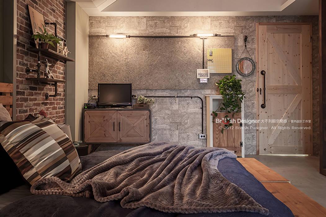 Phòng ngủ phong cách châu Á bởi 大不列顛空間感室內裝修設計 Châu Á