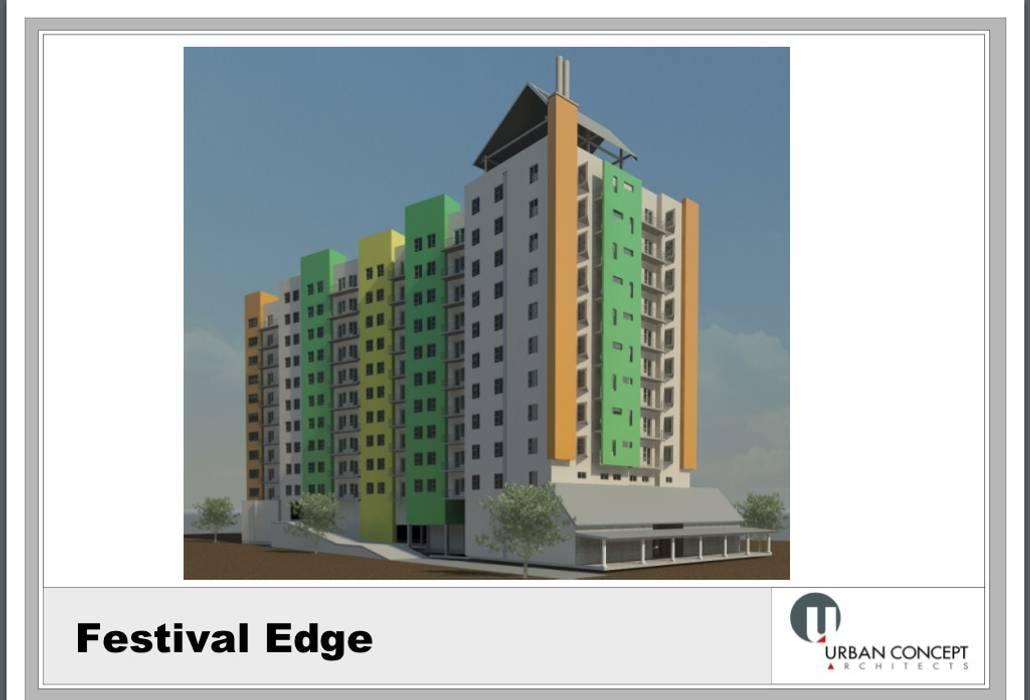Urban concept architects Casas de estilo moderno Hormigón reforzado Multicolor