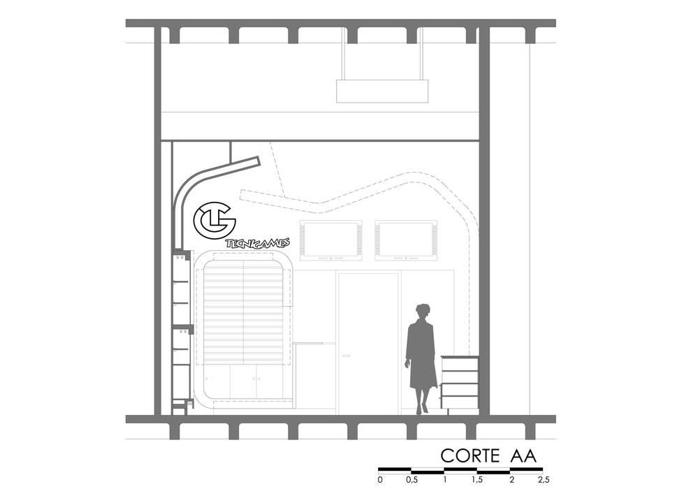 Centres commerciaux de style  par OPFA Diseños y Arquitectura