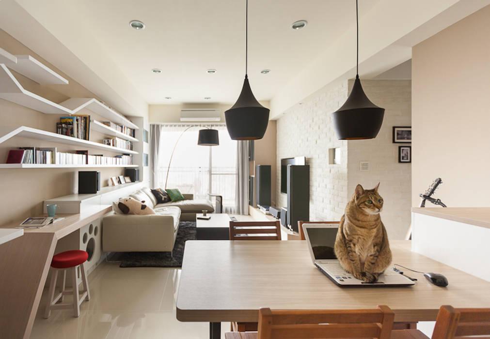 思維空間設計 Ruang Makan Gaya Skandinavia