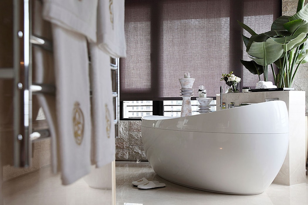 【大明大放 | Bright, Open space】 天坊室內計劃有限公司 TIEN FUN INTERIOR PLANNING CO., LTD. 現代浴室設計點子、靈感&圖片