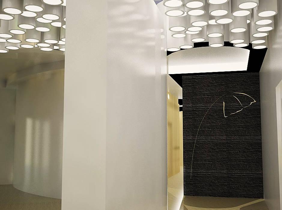 Recepção Spa. Acessos balneários e salas de tratamento. Clínicas modernas por MUDE Home & Lifestyle Moderno