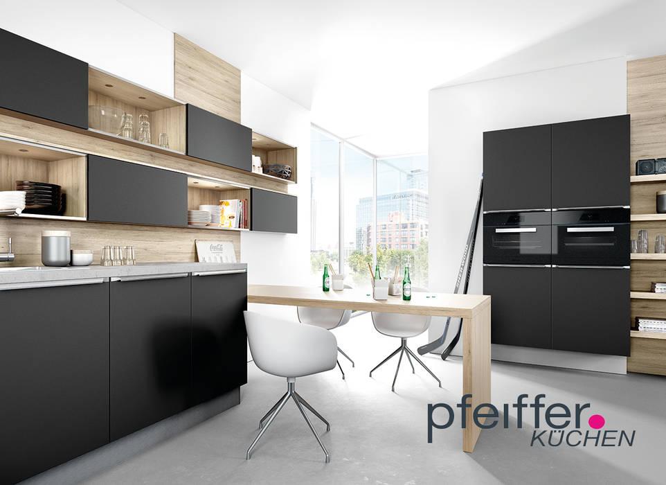 Pfeiffer küchen – natürlicher charakter mit schwarzer ...
