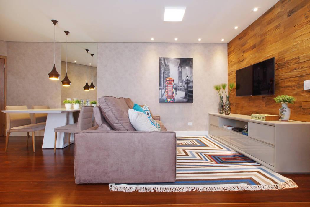 Salas / recibidores de estilo  por Serra Vaz Arquitetura e Design de Interiores, Moderno