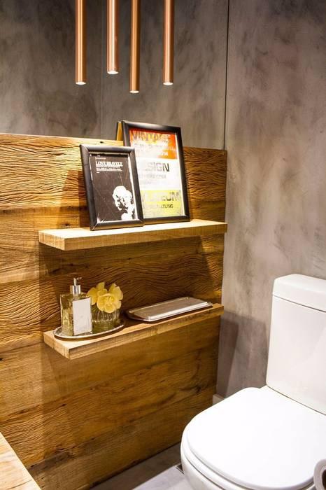 APTO SÃO CONRADO Banheiros modernos por A MARCENARIA Moderno