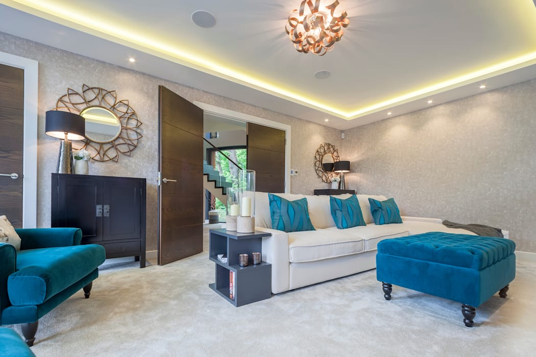 WESTMINSTER RD, BRANKSOME. DORSET - LIVING ROOM by Jigsaw Interior Architecture
