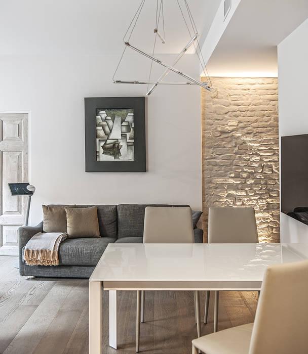 66 metri quadri: soggiorno in stile di brando concept   homify