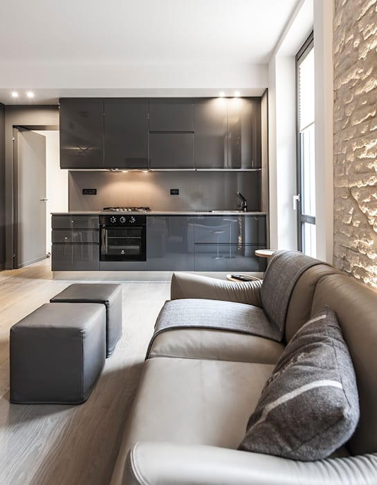 66 metri quadri Cucina moderna di BRANDO concept Moderno
