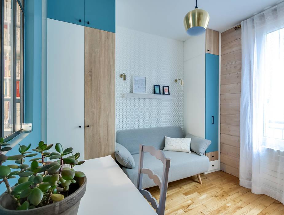 Chambre d\'amis-bureau: chambre de style de style scandinave par ...