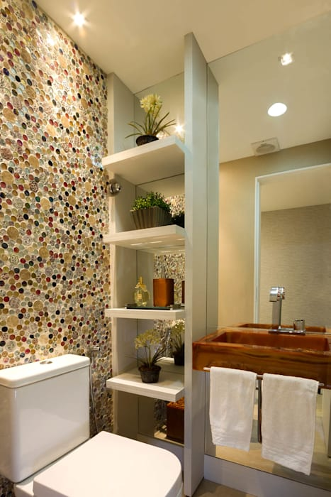 Lavabo e banheiros, Maceió AL Banheiros clássicos por Cris Nunes Arquiteta Clássico