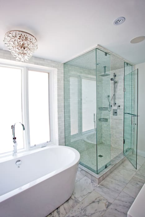 Beach Master Bathroom Modern bathroom by Collage Designs Modern Marble