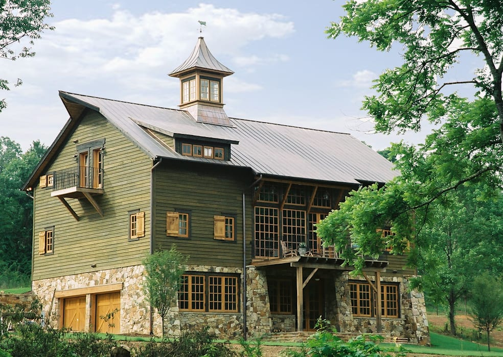 Luxury Barn Jeffrey Dungan Architects Country style house Wood Beige
