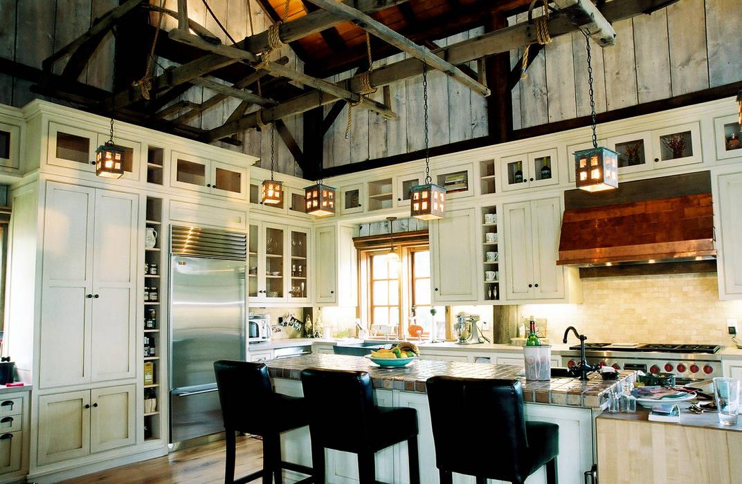 Luxury Barn Jeffrey Dungan Architects Kitchen Wood White