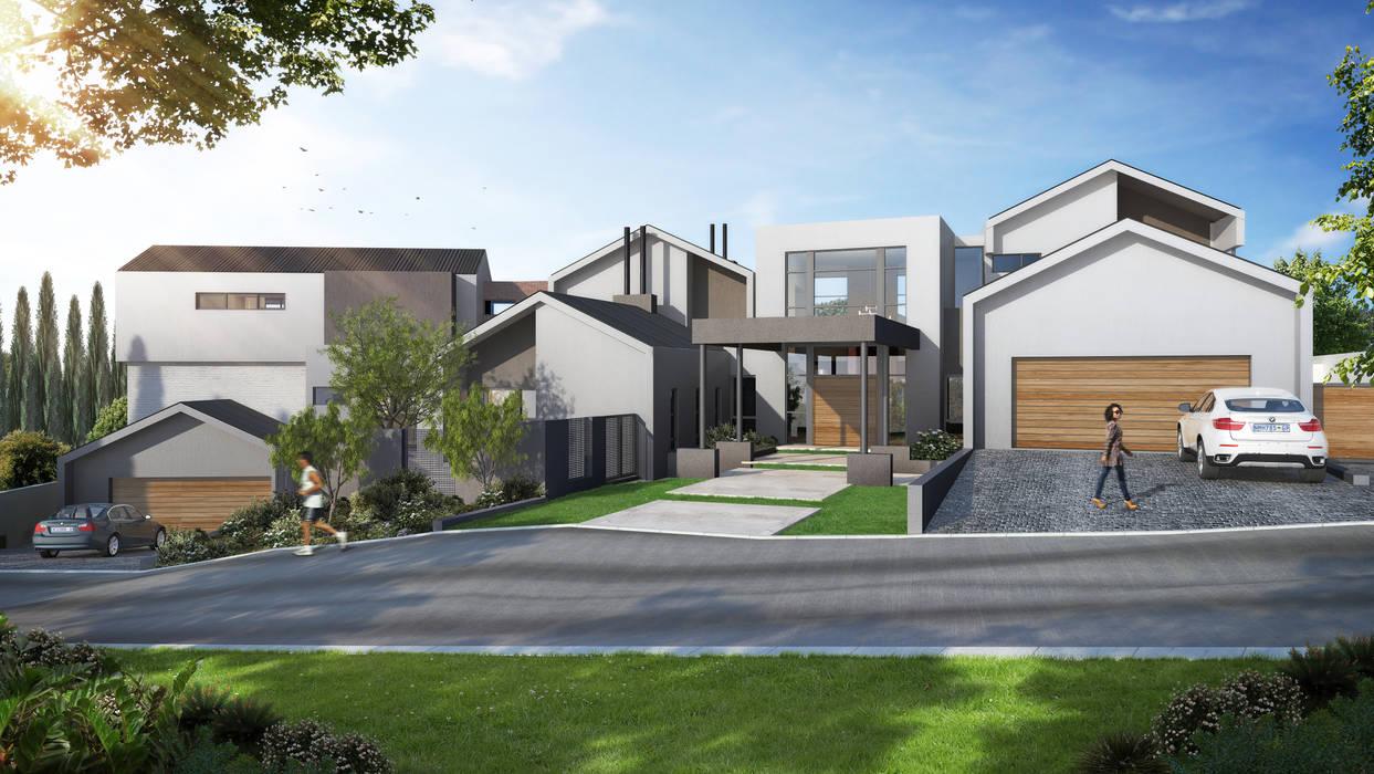 House Ntsele Modern houses by Urban Habitat Architects Modern Wood Wood effect