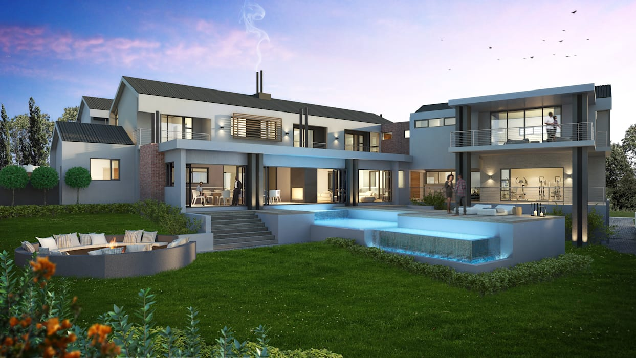 Houses by Urban Habitat Architects, Modern Aluminium/Zinc