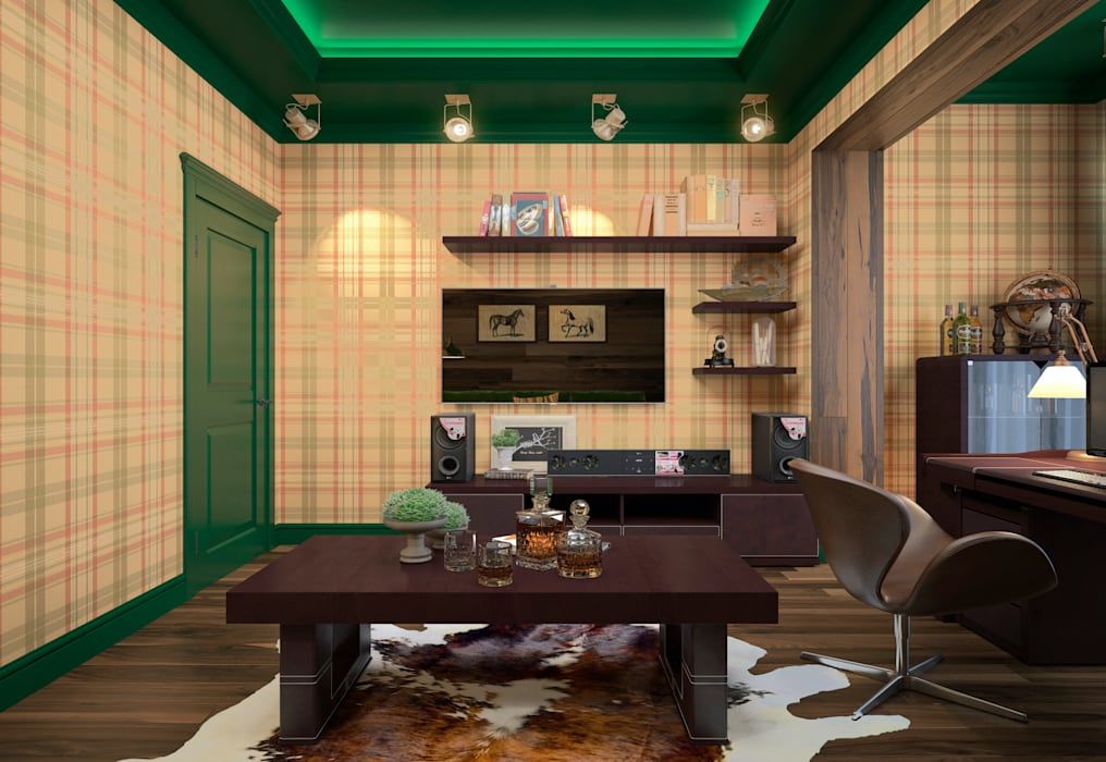 townhouse in modern style Rubleva Design Modern Study Room and Home Office