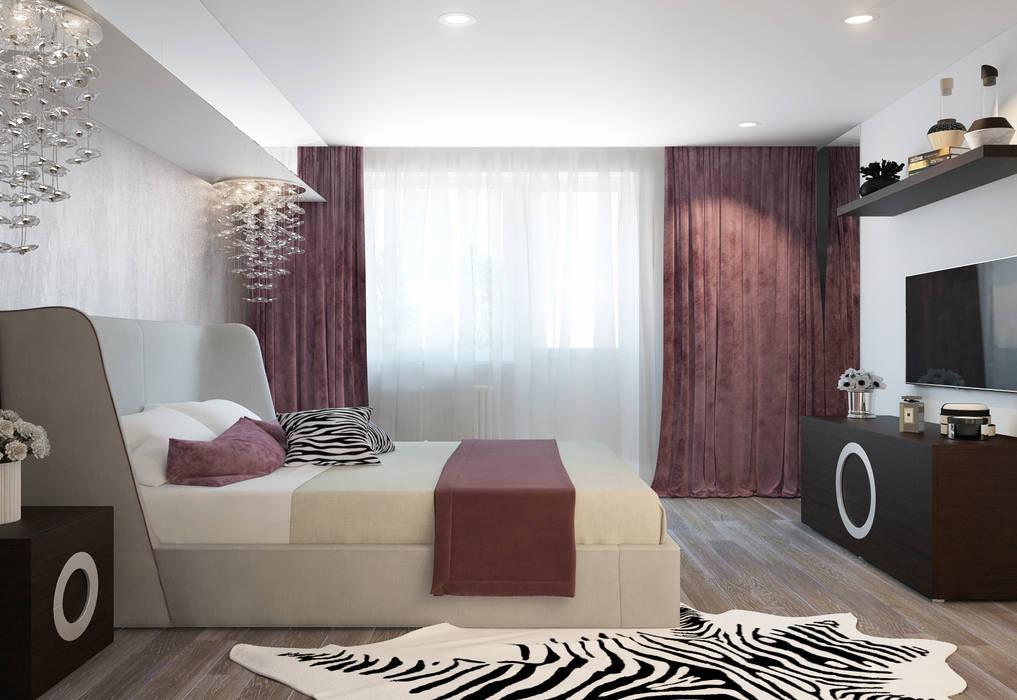 Phòng ngủ phong cách hiện đại bởi design studio by Mariya Rubleva Hiện đại