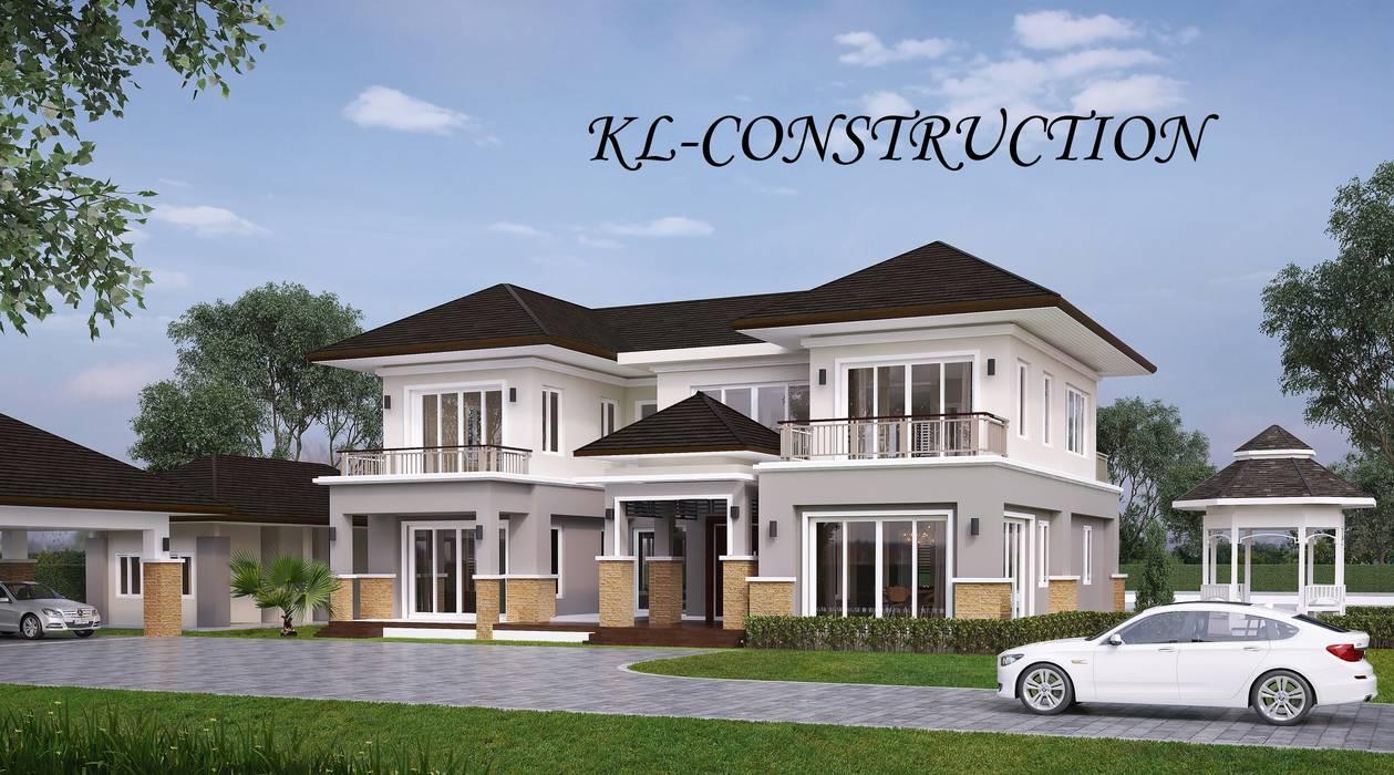 ผลงานออกแบบบ้านพักอาศัย 2 ชั้น Contemporary Style by KL-Cons. โดย บริษัท เค.แอล.คอนสตรัคชั่น แอนด์ ซัพพลาย จำกัด ทรอปิคอล