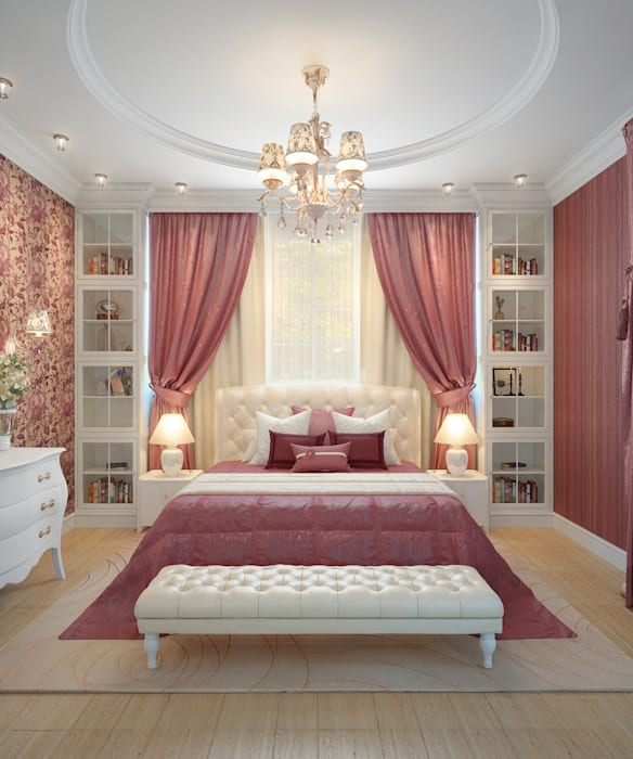 large apartment in classic style in Moscow Classic style bedroom by design studio by Mariya Rubleva Classic