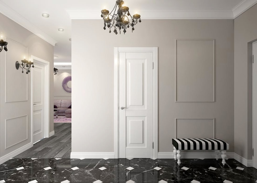 apartments in a classic style in Moscow Modern Corridor, Hallway and Staircase by Rubleva Design Modern