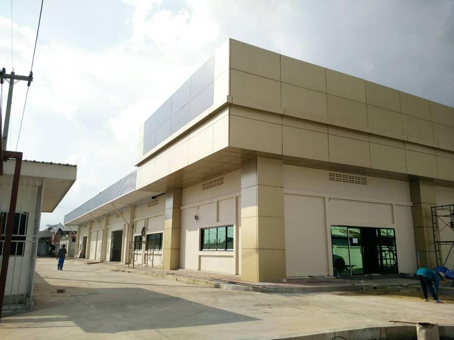 ผลงานสร้างโรงงาน โดย KL-Cons. โดย บริษัท เค.แอล.คอนสตรัคชั่น แอนด์ ซัพพลาย จำกัด ผสมผสาน