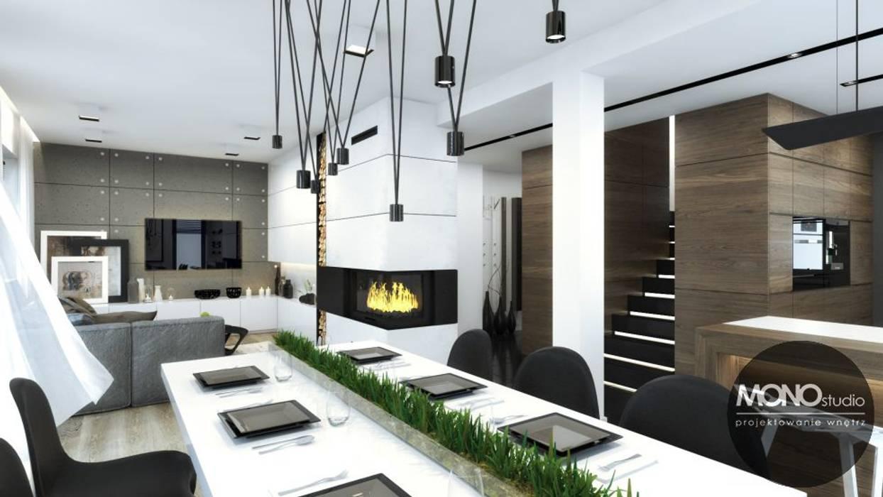 Jadalnia Otwarta Na Kuchnię I Salon Styl W Kategorii Jadalnia