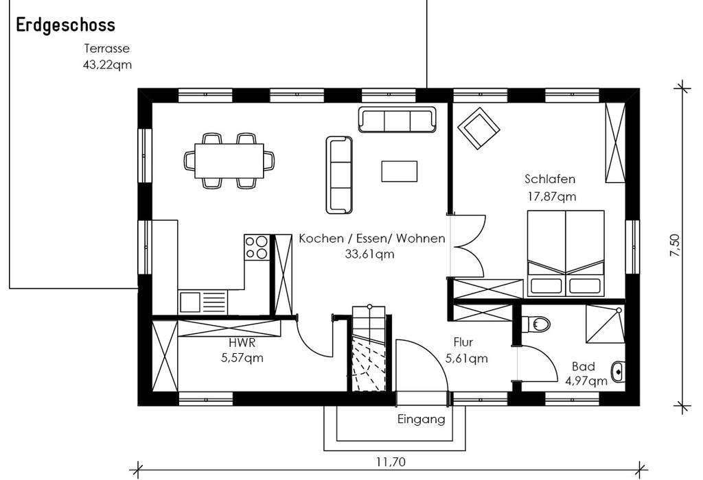 Villa Maurive:  Häuser von Müllers Büro