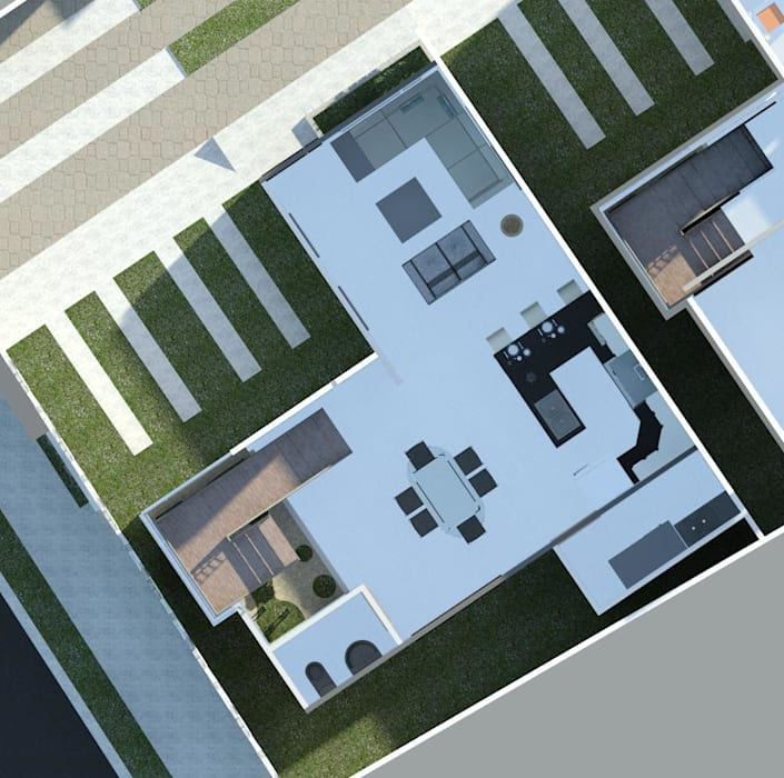 planta baja (visualización de espacios) Comedores de estilo minimalista de Diseño Store Minimalista
