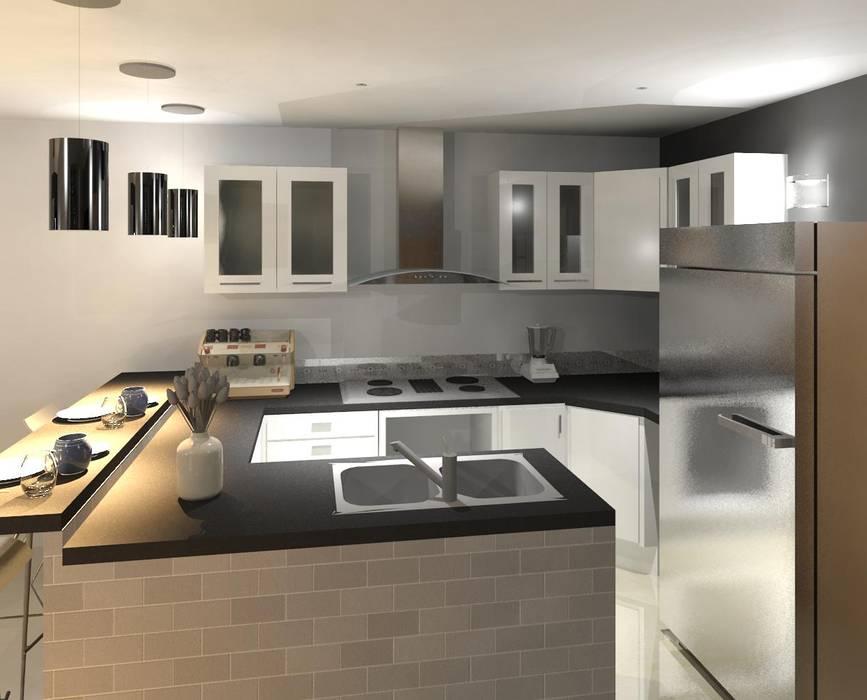 vista interna de la cocina: Cocinas de estilo minimalista por Diseño Store