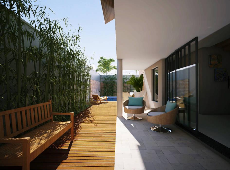 Lozí - Projeto e Obra Moderner Balkon, Veranda & Terrasse