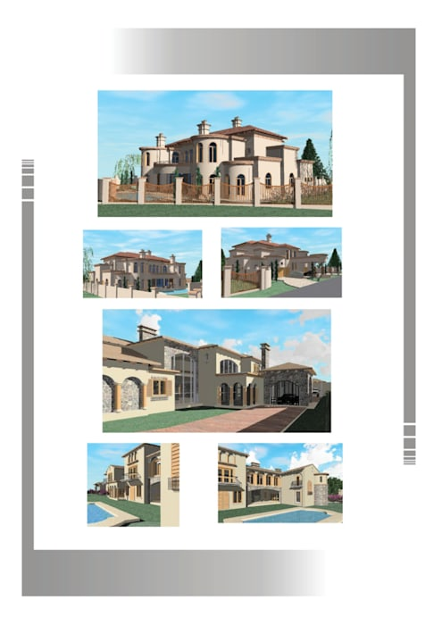 Mansions Hyperrealistic Architectural Studio Rustic style house