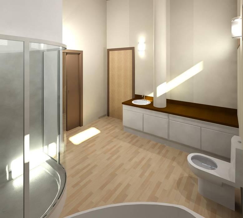 Baño principal: Baños de estilo  por Diseño Store