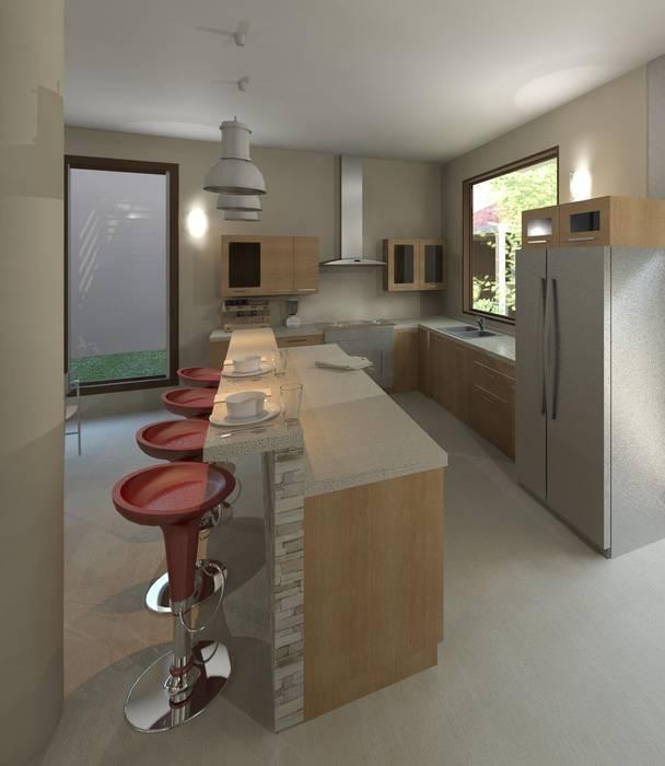 vista de la cocina Cocinas de estilo moderno de Diseño Store Moderno