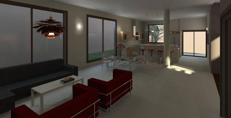 Sala y comedor: Salas / recibidores de estilo moderno por Diseño Store