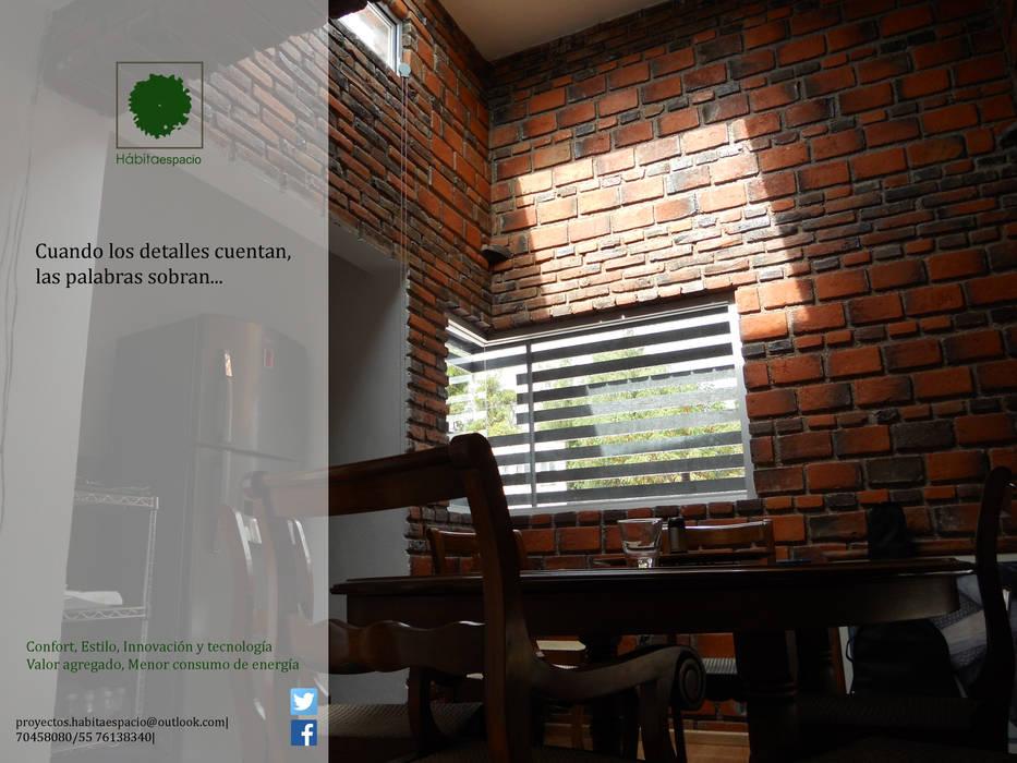 Sala de juntas: Estudios y oficinas de estilo moderno por Habitaespacio