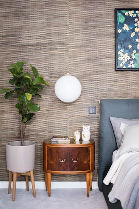 Modern New Home in Hampstead - Headboard Black and Milk   Interior Design   London BedroomBedside tables