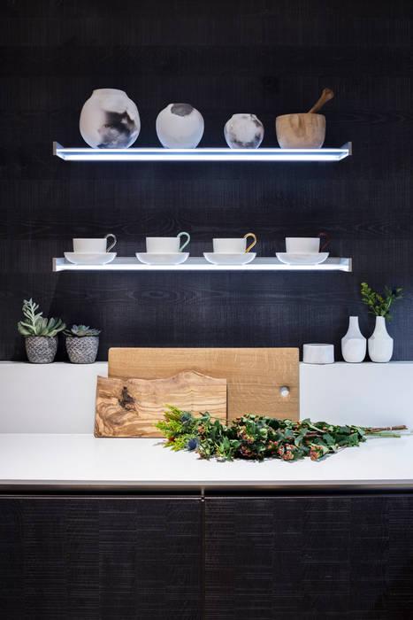Modern New Home in Hampstead - Kitchen Black and Milk | Interior Design | London KitchenCutlery, crockery & glassware