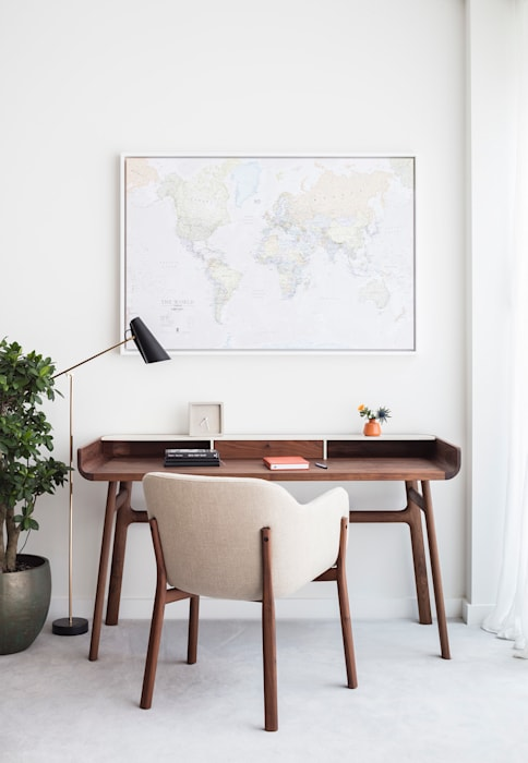 Modern New Home in Hampstead - Desk Black and Milk   Interior Design   London Office spaces & stores