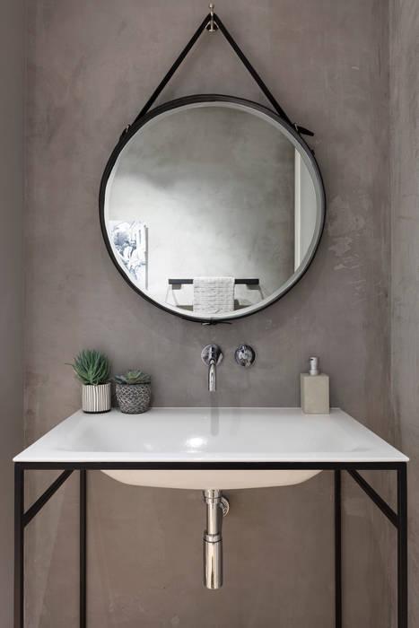 Modern New Home in Hampstead - master bedroom Black and Milk   Interior Design   London BathroomSinks
